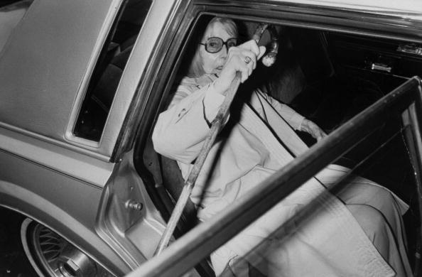 Prob. the final photo taken of actress Greta Garbo, as she is getting out of a car, cane in hand, to enter the hospital four days before her death. (Photo by Time Life Pictures/DMI/Time Life Pictures/Getty Images)